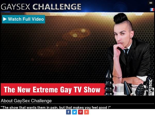 Gay Sex Challenge Username