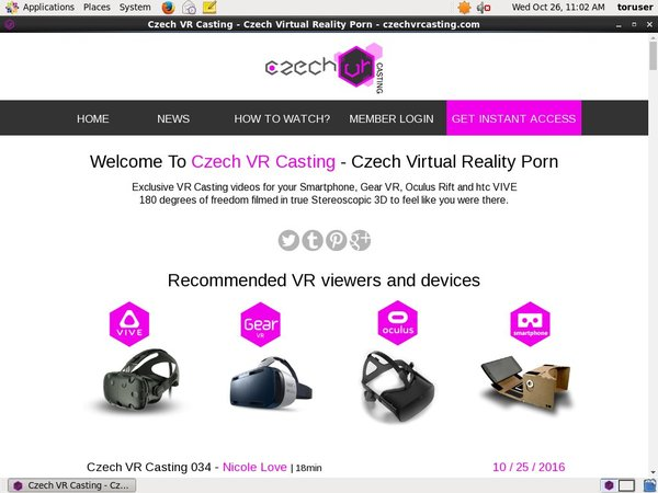 Czechvrcasting Free Login And Password