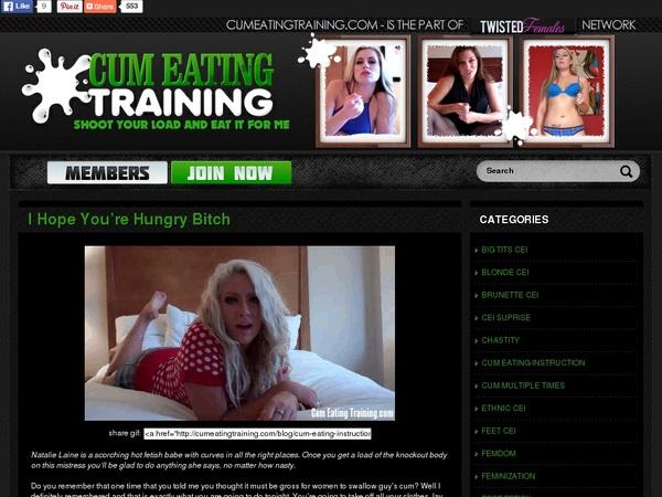 Cum Eating Training Page